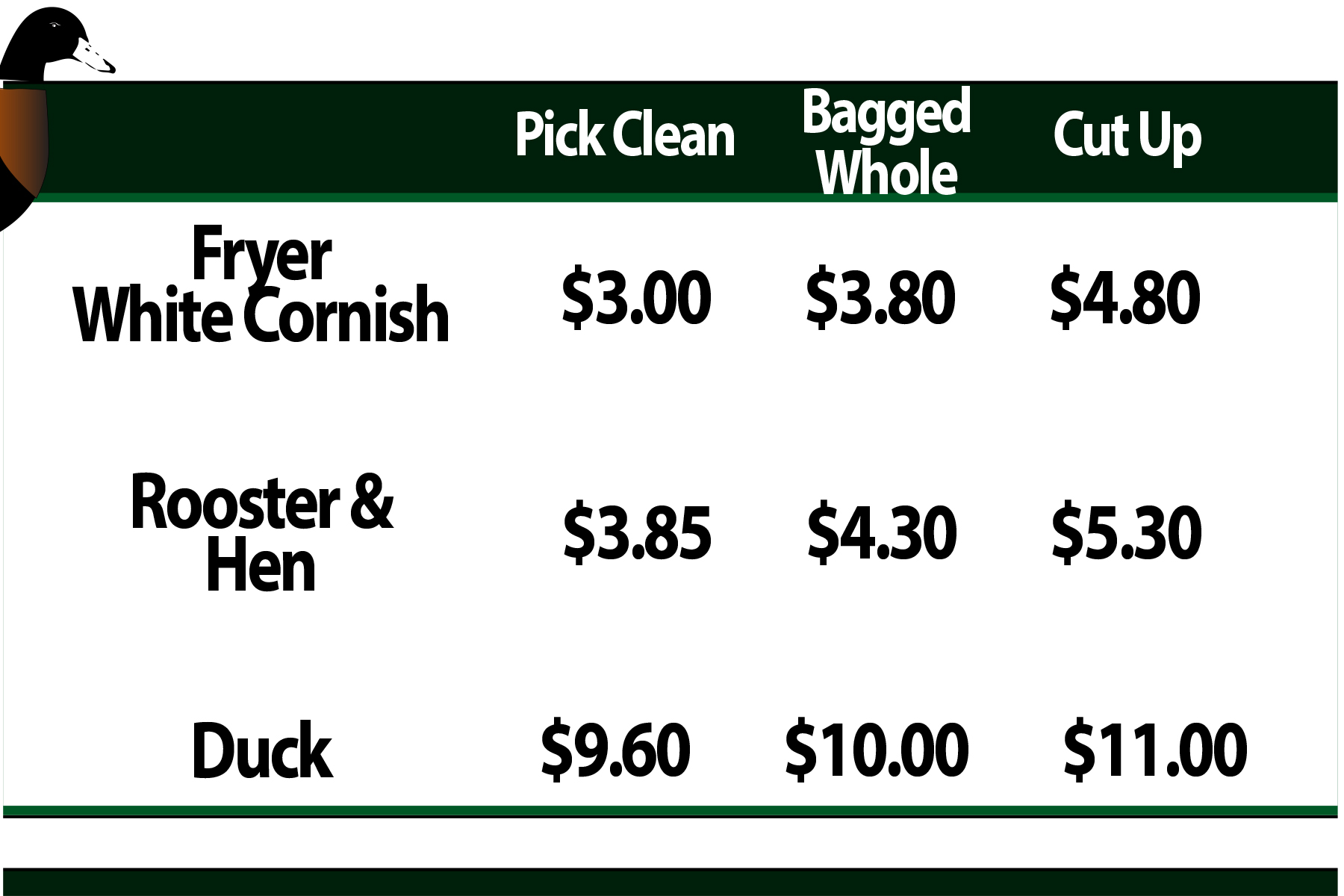 Pricelist-No-duck